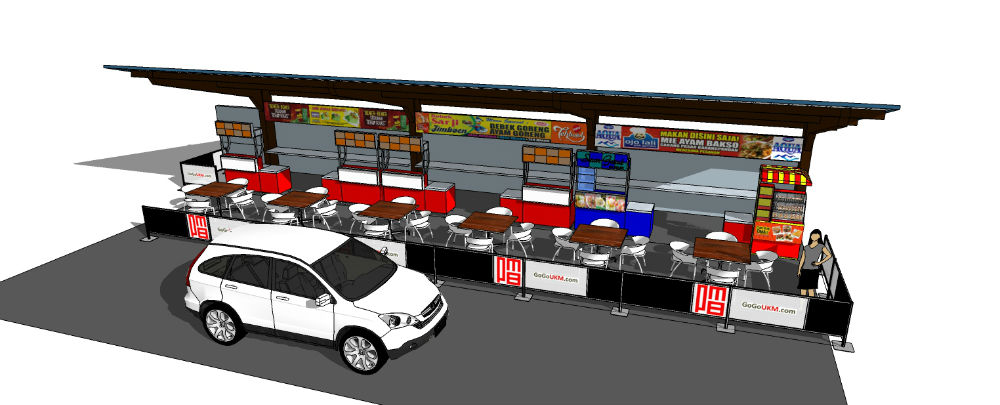 Contoh Kanopi  dan Booth Kuliner